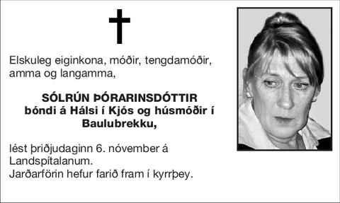 Sólrún Þórarinsdóttir