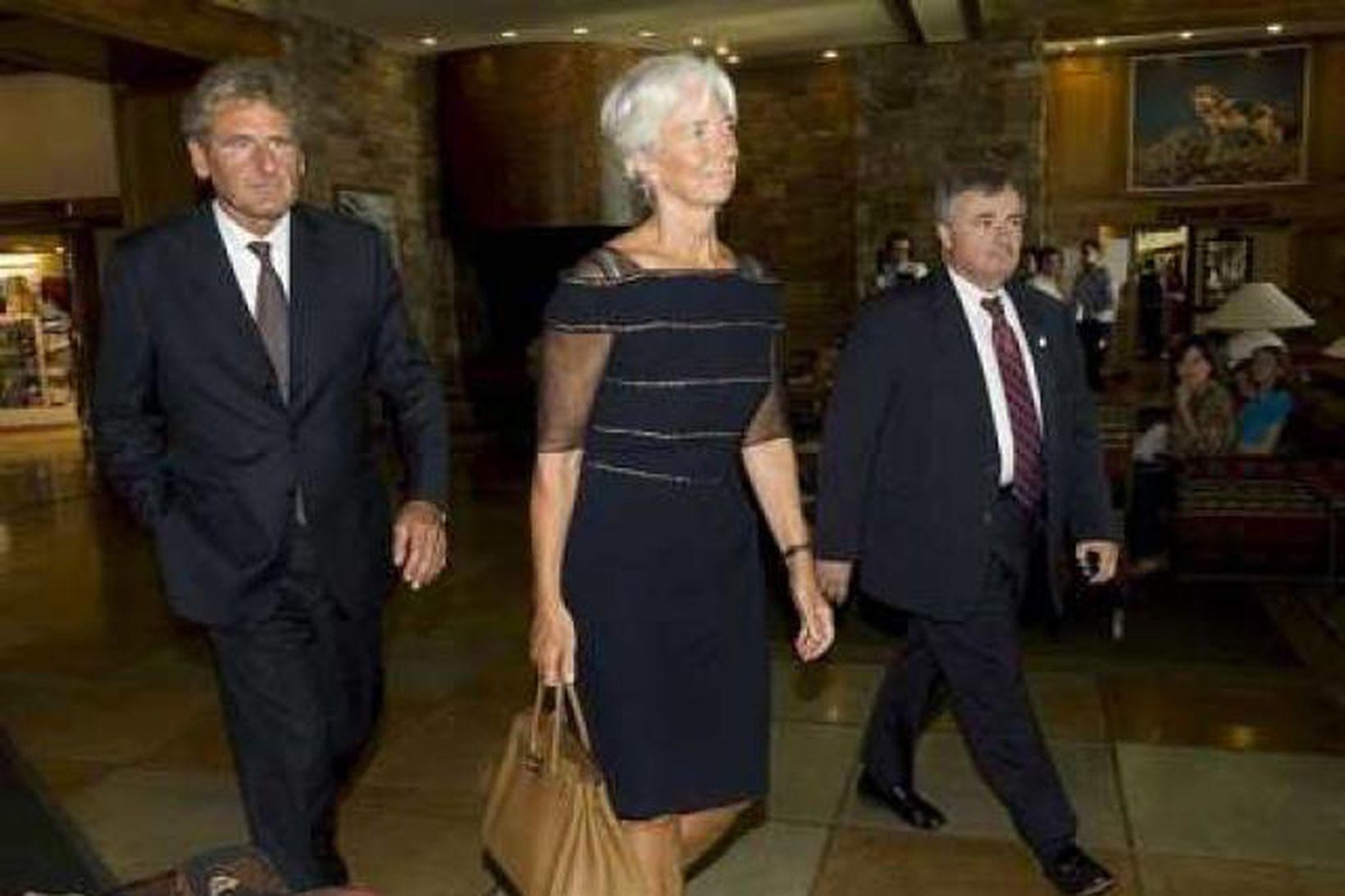Christine Lagarde kemur til fundarins í Jackson Hole.