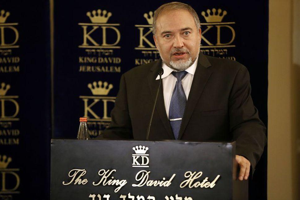 Avigdor Lieberman, utanríkisráðherra Ísraels.
