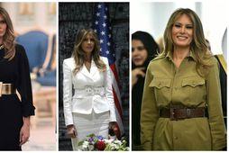 Melania Trump er greinilega hrifin af beltum þessa dagana.