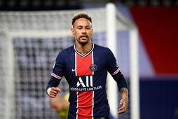 Neymar leikur með PSG í Frakklandi.