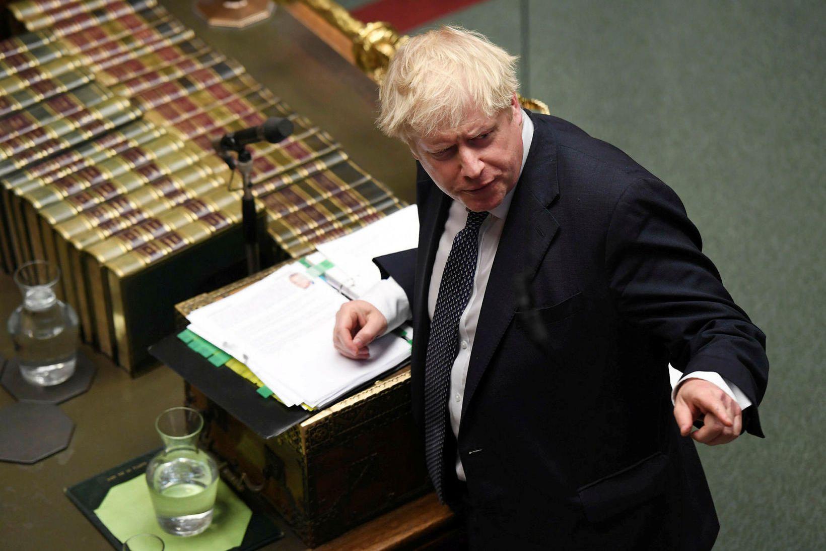 Boris Johnson, forsætisráðherra Bretlands, vill boða til kosninga 12. desember …