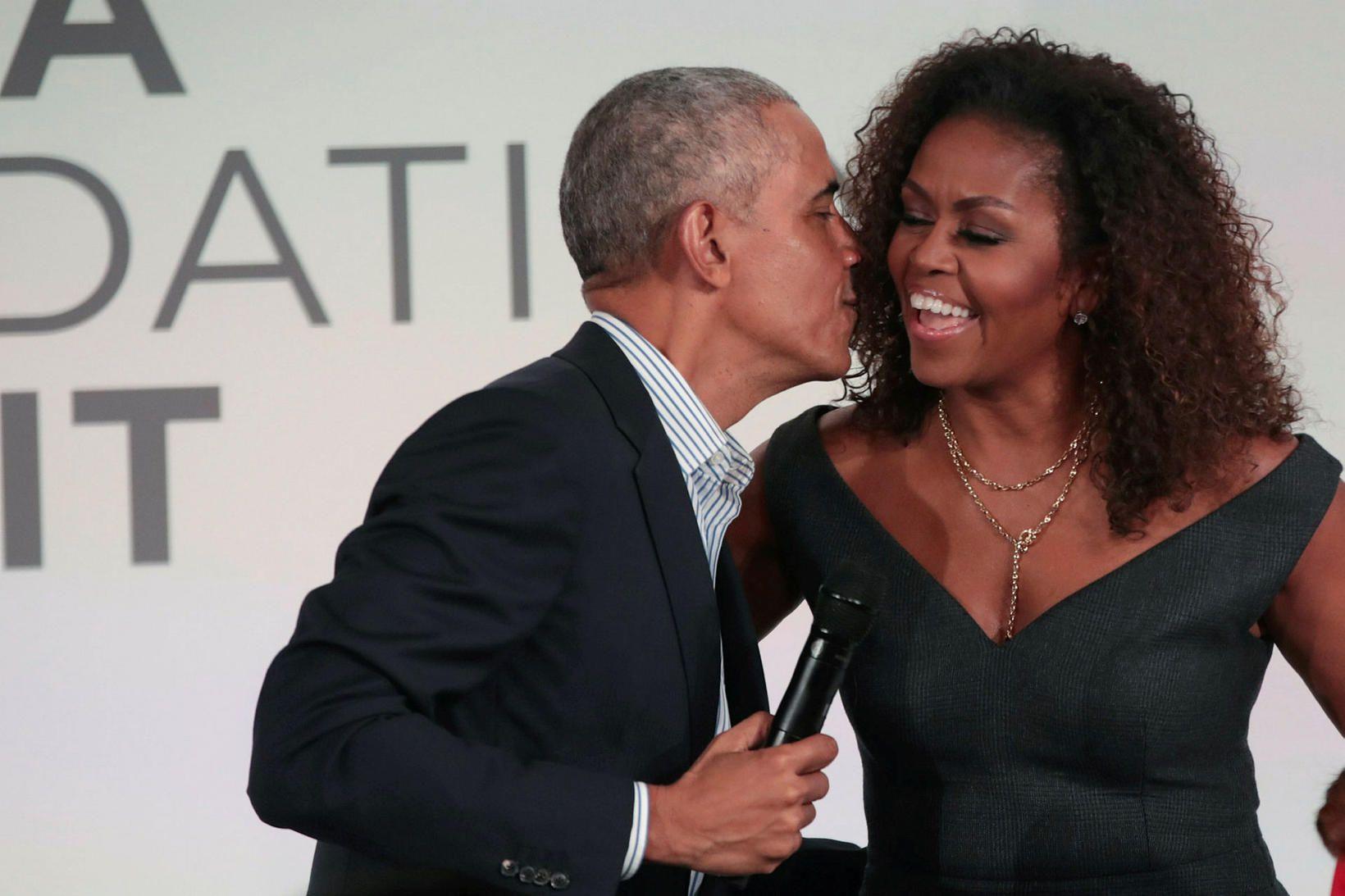 Barack og Michelle Obama.