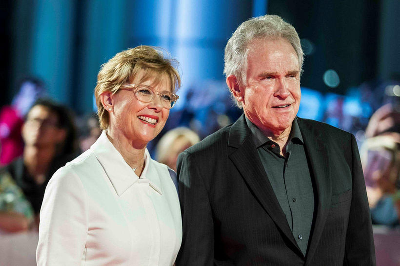 Hjónin Annette Bening og Warren Beatty.