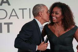 Forsetahjónin fyrrverand Barack og Michelle Obama.