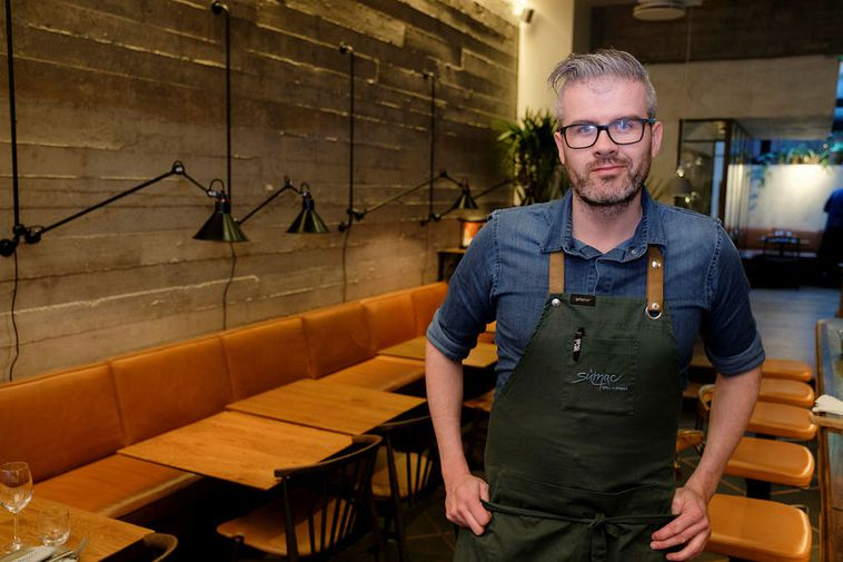 Þráinn Freyr Vigfússon chef at the Lebanesse inspired Sumac and ÓX, a tiny restaurant located ...