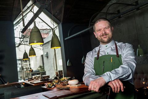 Icelandic chef Gunnar Karl Gíslason, here photographed at the renowned Dill restaurant in Reykjavik.