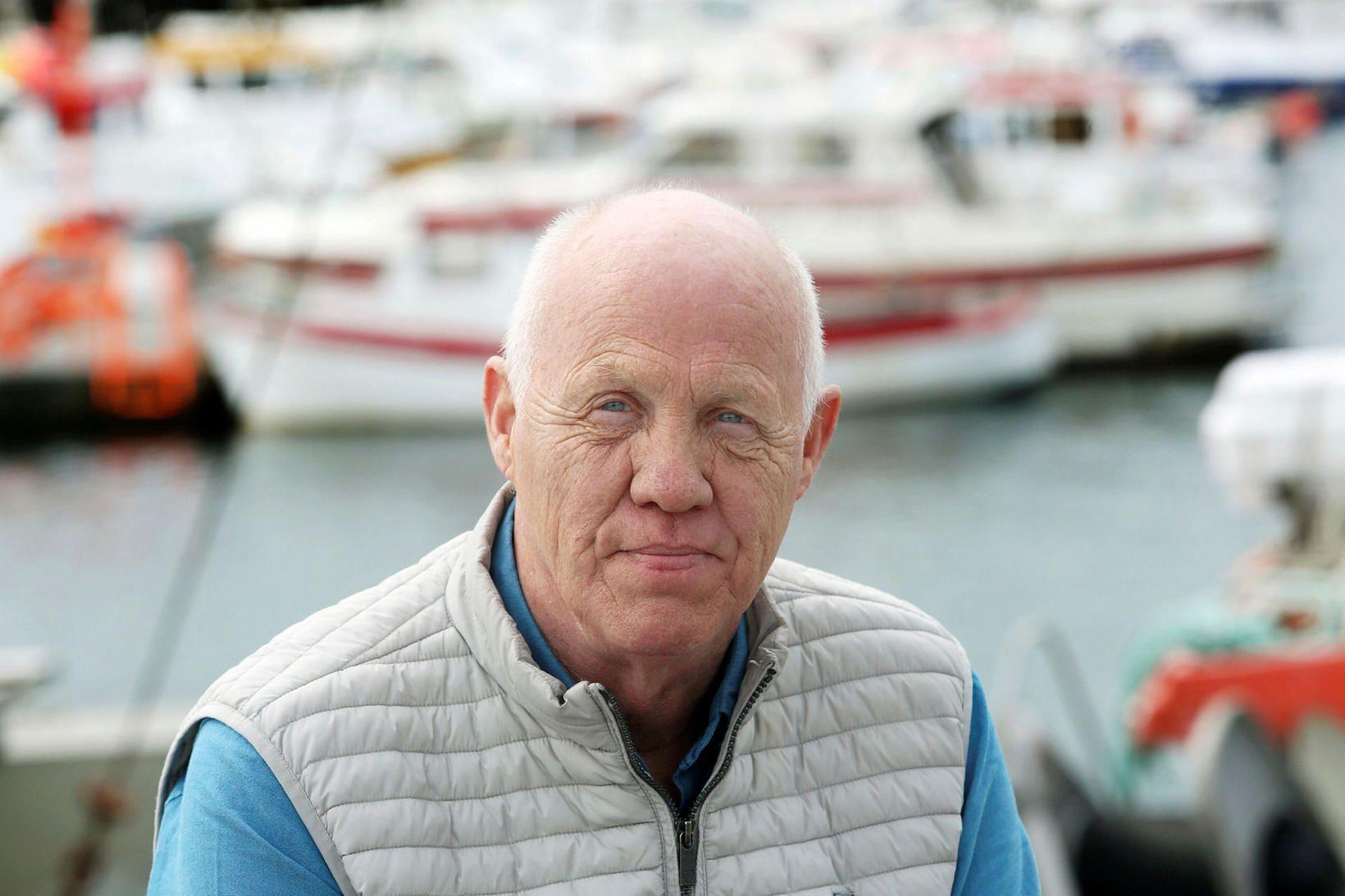 """""""Ég er með sjóhraustustu mönnum,"""" segir skipstjórinn Brynjólfur Oddsson, kallaður …"""