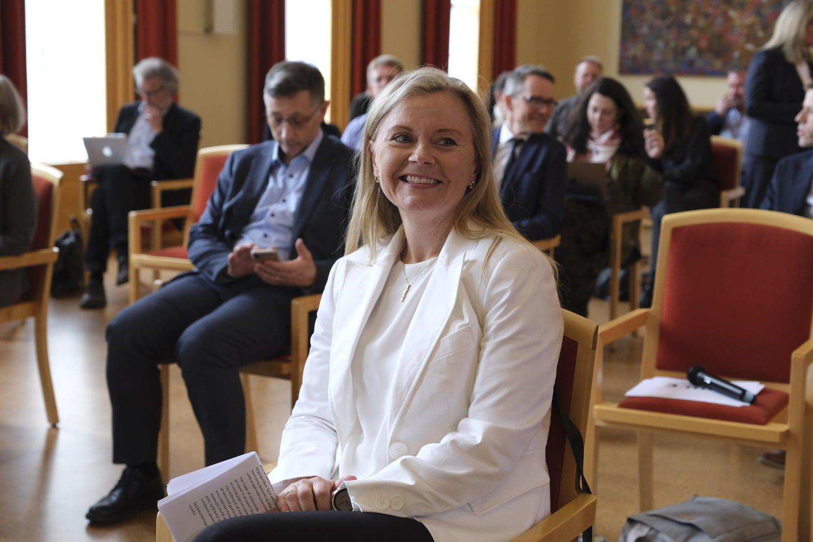 Bryndís Sigurðardóttir smitsjúkdómalæknir flutti erindi á málþingi í Háskóli Íslands …