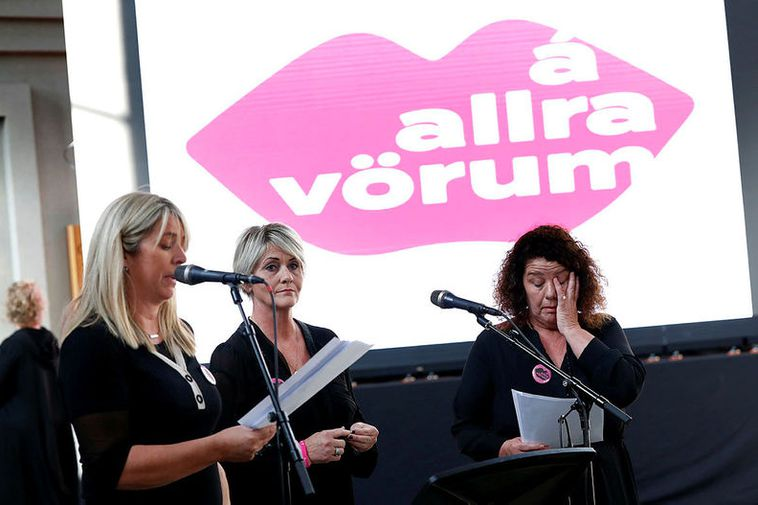 The initiative was launched in Hallgrímskirkja church yesterday. The leaders of the effort, from left: ...