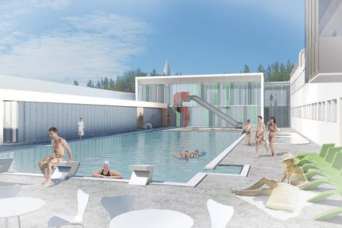 A new outdoor pool at the Sundhöll swimming pool will open at the end of November.
