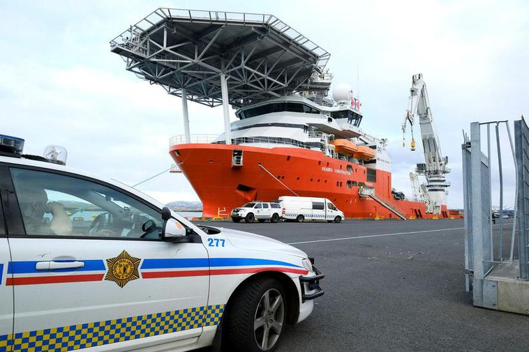 The police was waiting for the ship when it docked in Reykjavik.