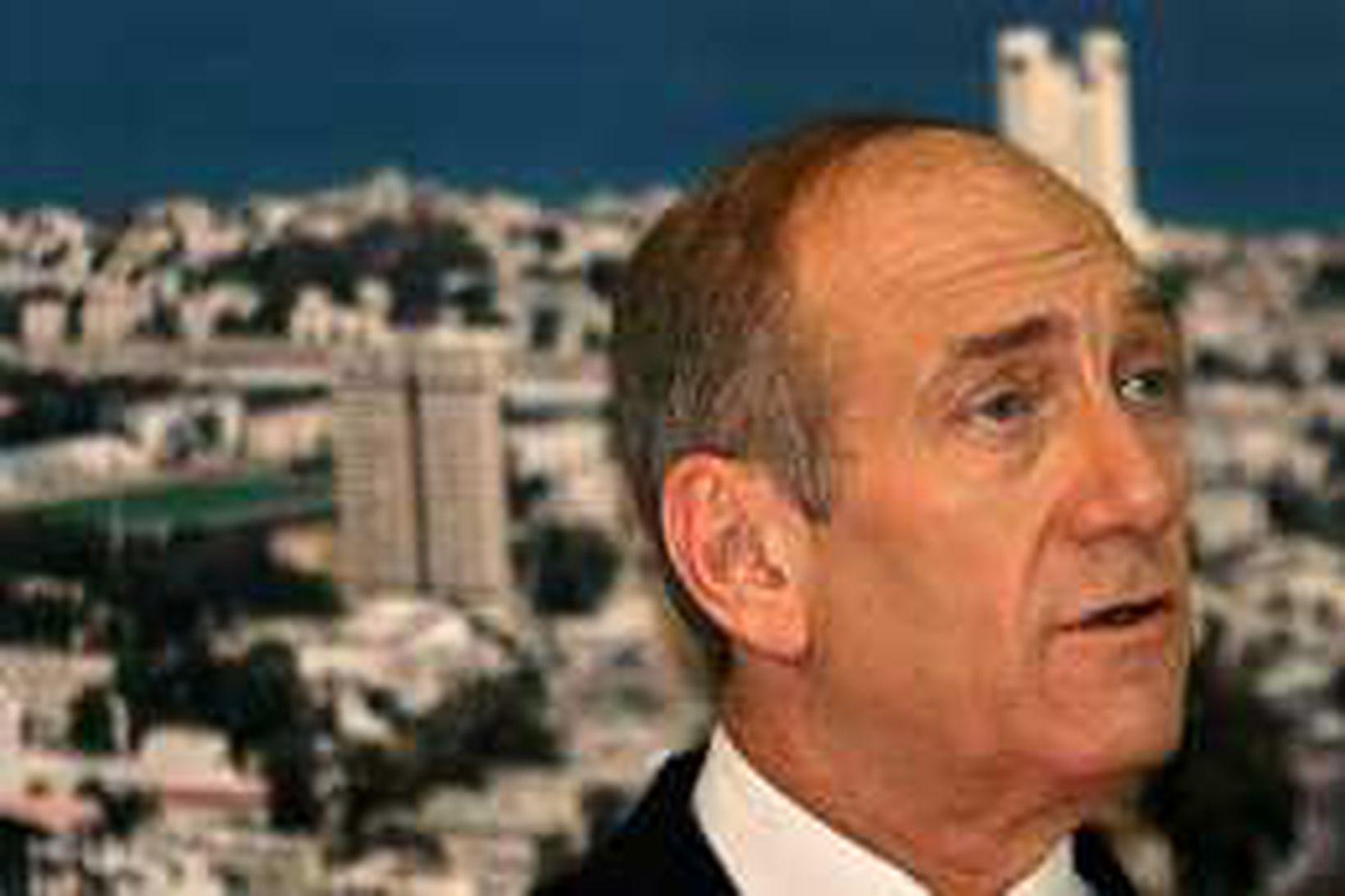 Ehud Olmert vonast til þess að Ísrael og Líbanon geti …