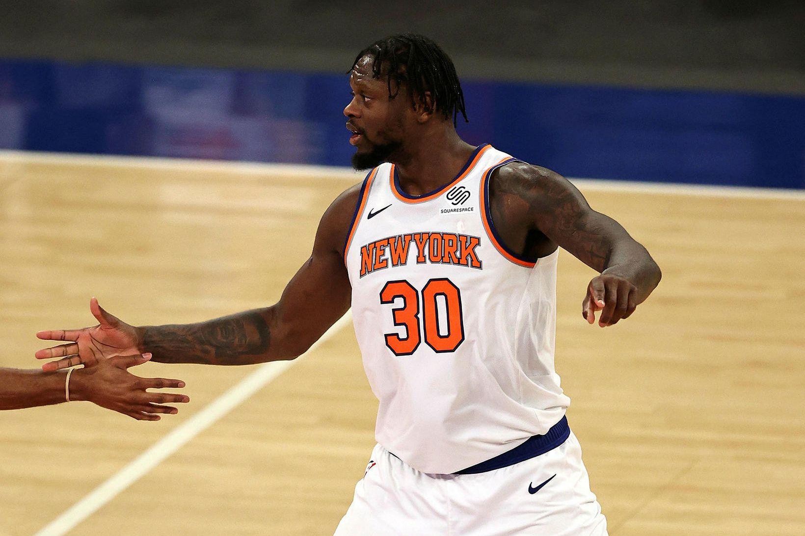 Julius Randle hefur átt frábært tímabil fyrir New York Knicks.