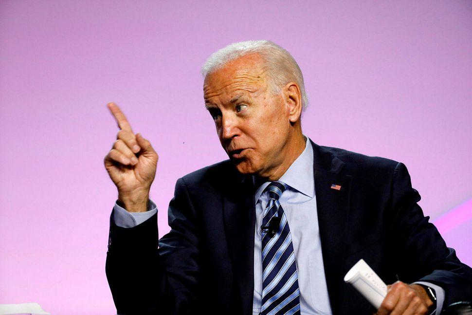 Joe Biden, fyrrverandi varaforseti Bandaríkjanna og frambjóðandi í forvali demókrata ...