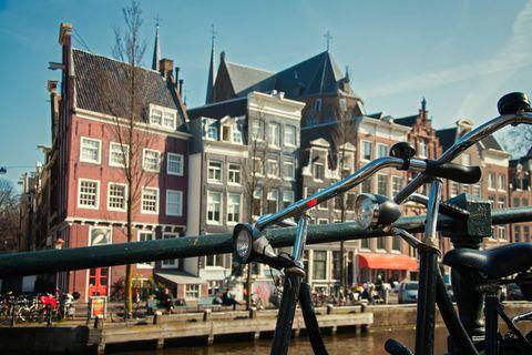Jordaan hverfið í Amsterdam er heillandi og friðsælt.