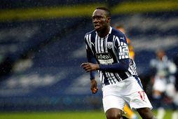 Mbaye Diagne fagnar marki sínu gegn Wolves.