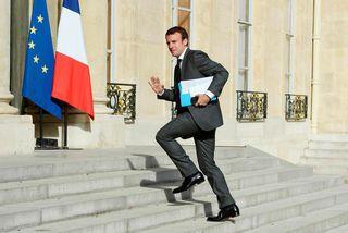 Óháði frambjóðandinn Emmanuel Macron. Rússneskir tölvuhakkarar eru taldir hafa reynt að komast yfir persónuupplýsingar hans.