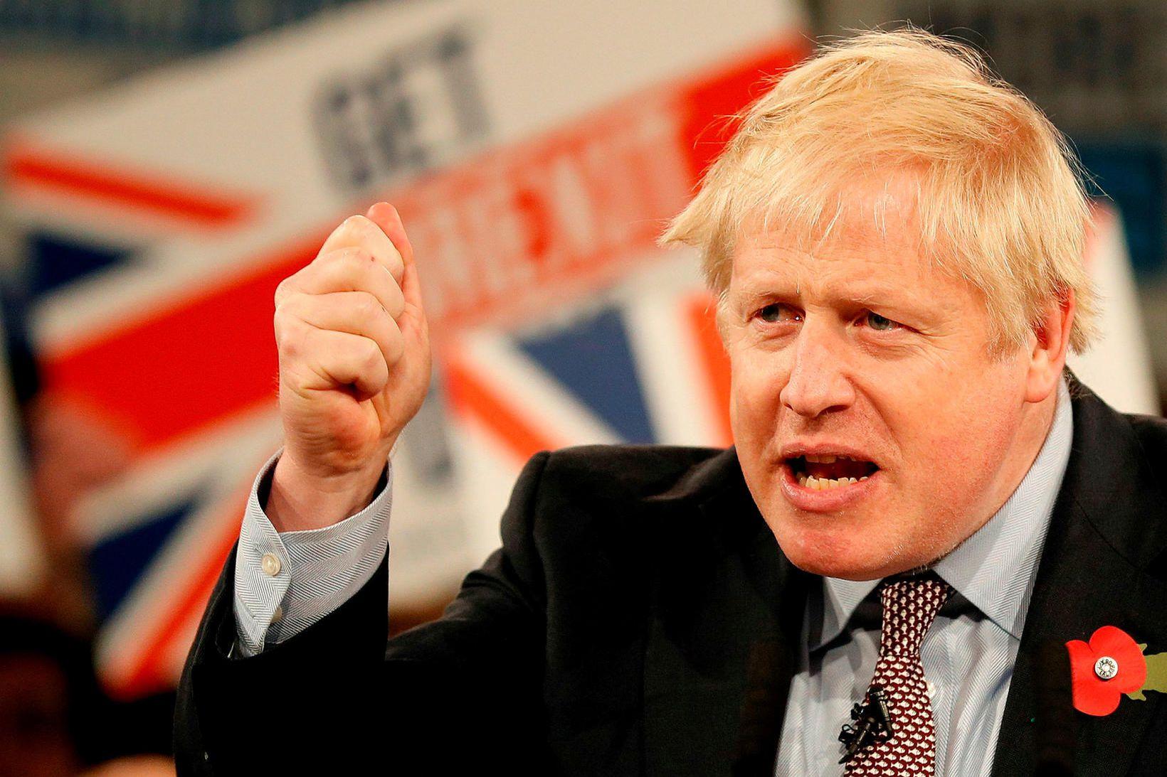 Boris Johnson, forsætisráðherra Bretlands og leiðtogi Íhaldsflokksins.