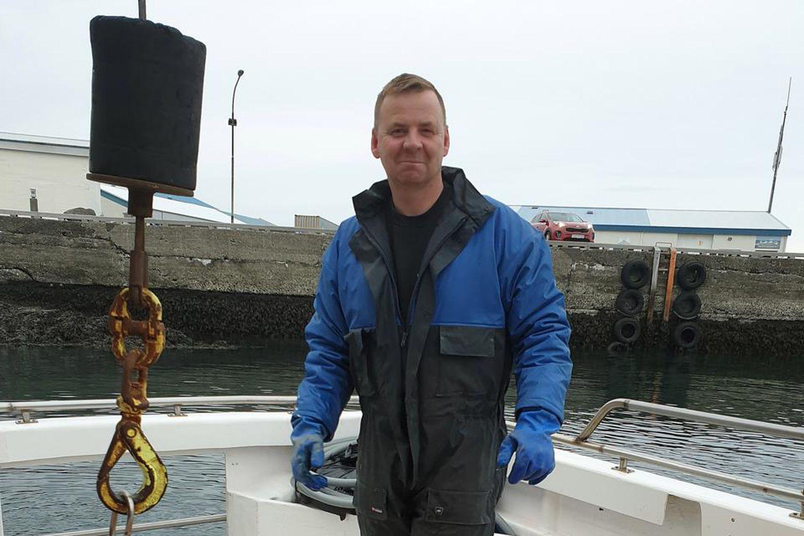 Klement Sigurðsson skipstóri á Ingu P hefur að undanförnu stundað …