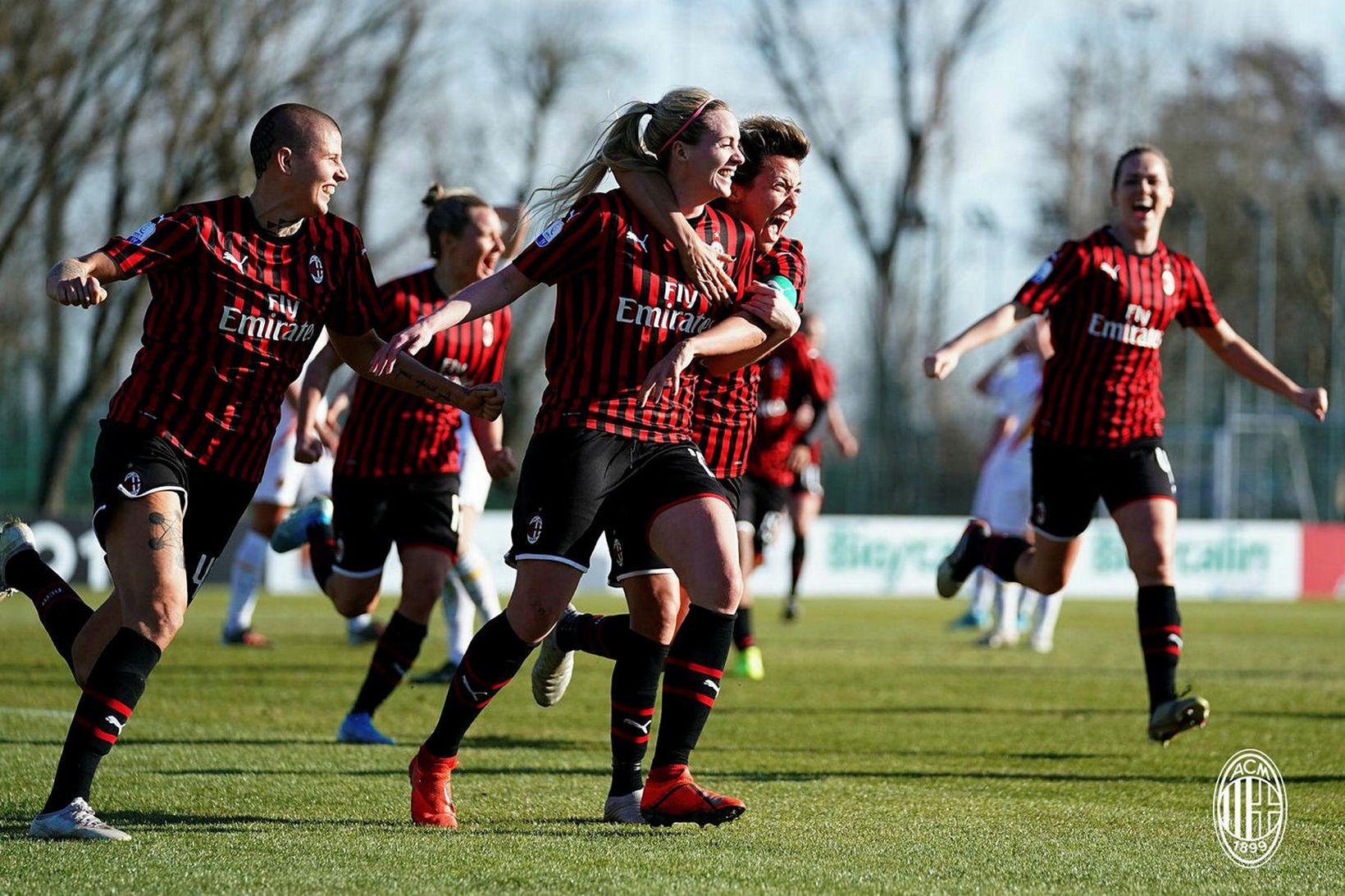 Berglind Björg Þorvaldsdóttir og samherjar í AC Milan áttu að …