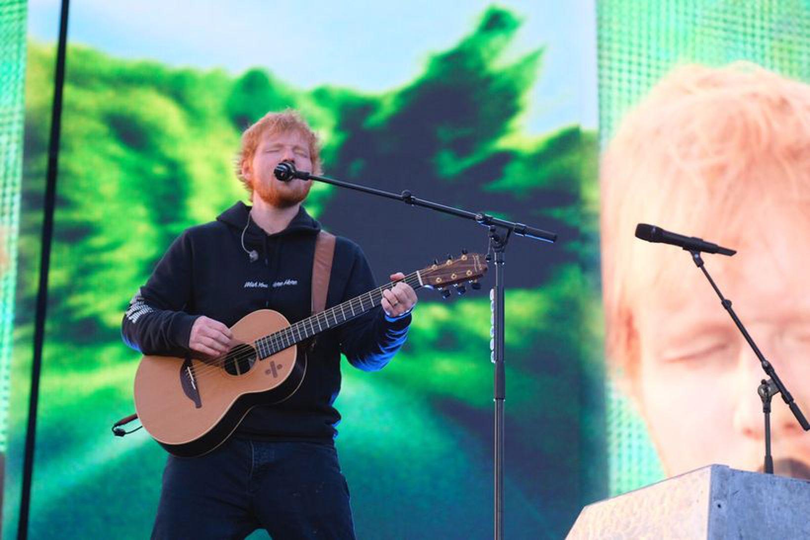 Sheeran á tónleikunum í gærkvöldi.
