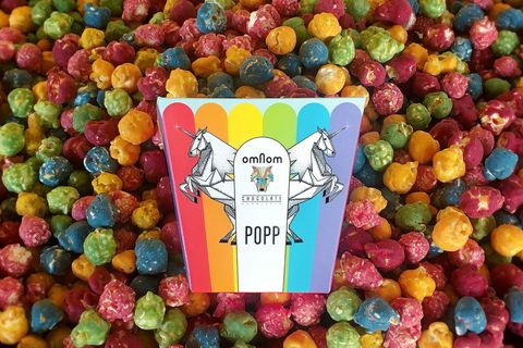The popcorn is supposedly made by unicorns.