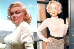 Jasmin Chiswell (t.h.) er stærsti aðdáandi Marilyn Monroe (t.v.).