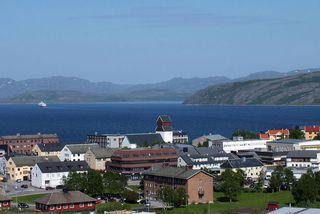 Norski bærinn Kirkenes er skammt frá rússnesku landamærunum.