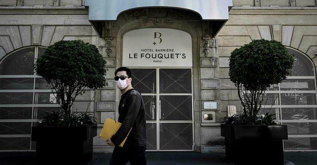 Le Fouquet's-hótelið í París.