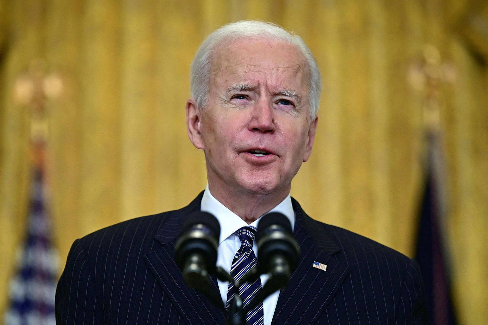 Joe Biden sagði á blaðamannafundi í dag að verið væri …