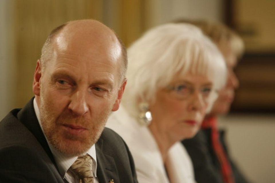 Steingrímur J. Sigfússon, fjármála-, landbúnaðar- og sjávarútvegsráðherra og Jóhanna Sigurðardóttir, forsætisráðherra.