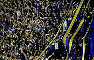 Stuðningsmenn Boca Juniors kunna að hvetja sína menn áfram.