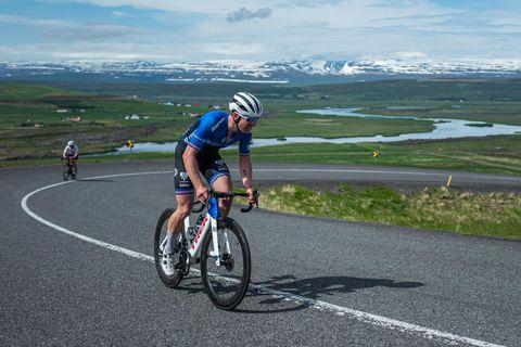 Ingvar Ómarsson er hér á leiðinni á milli Akureyrar og Húsavíkur í Skjálfandamótinu.
