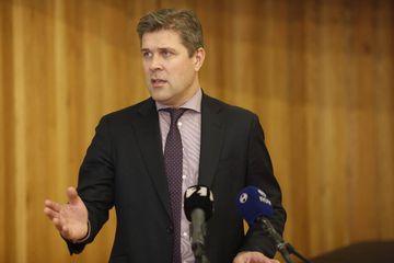 Bjarni Benediktsson, fjármálaráðherra, á fundinum í Hannesarholti í dag.