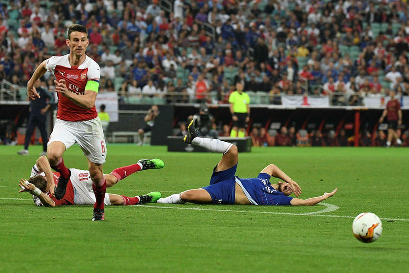 Laurent Koscielny fyrirliði Arsenal.