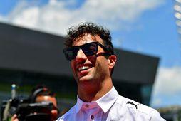 Daniel Ricciardo með vörumerki sitt, brosið mikla.