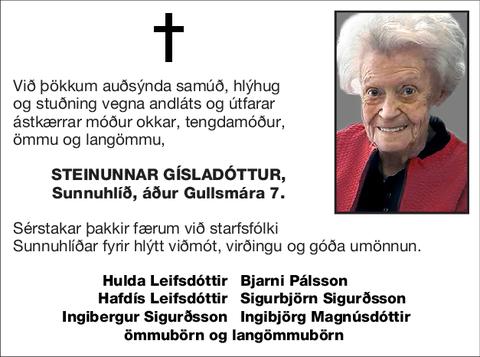 Steinunnar Gísladóttur,