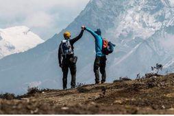 Fjallgöngumennirnir Heimir Fannar Hallgrímsson og Sigurður Bjarni Sveinsson náðu tindi Everest-fjalls á sunnudagskvöldið.