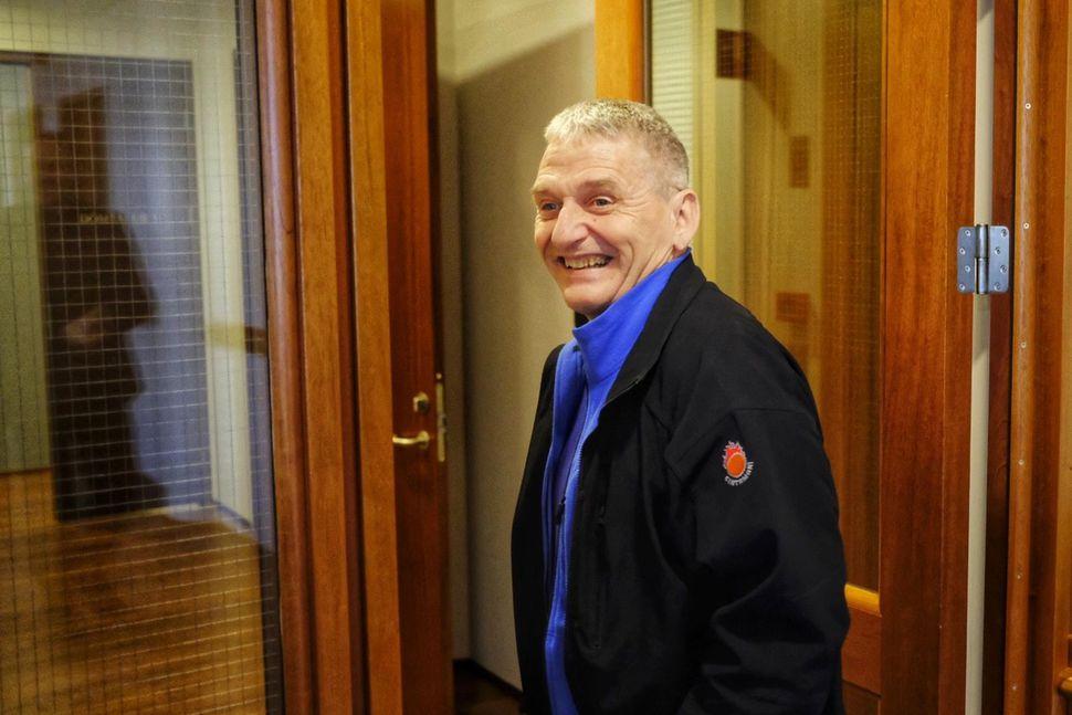 Hjálmar Jónsson, formaður Blaðamannafélags Íslands, í félagsdómi í dag,
