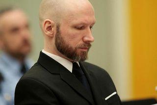 Breivik í dómsal í janúar.