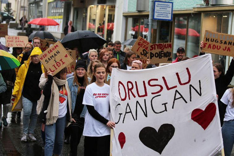 From the SlutWalk in Akureyri.