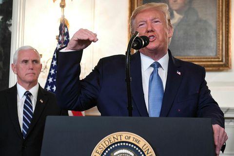Donald Trump Bandaríkjaforseti sagðist ánægður með árangurinn sem Bandaríkin hafa náð í Sýrlandi að hans ...