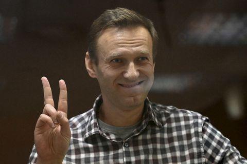 Alexei Navalní í febrúar.