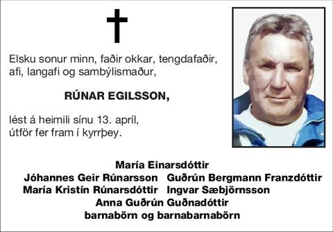 Rúnar Egilsson,
