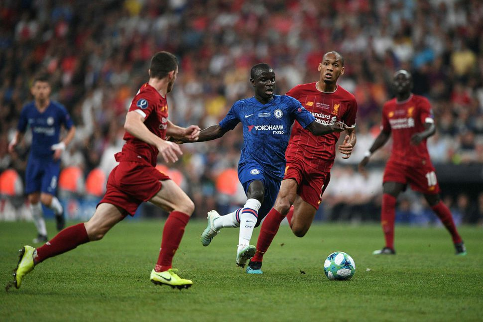 N'Golo Kanté í leik á móti Chelsea.