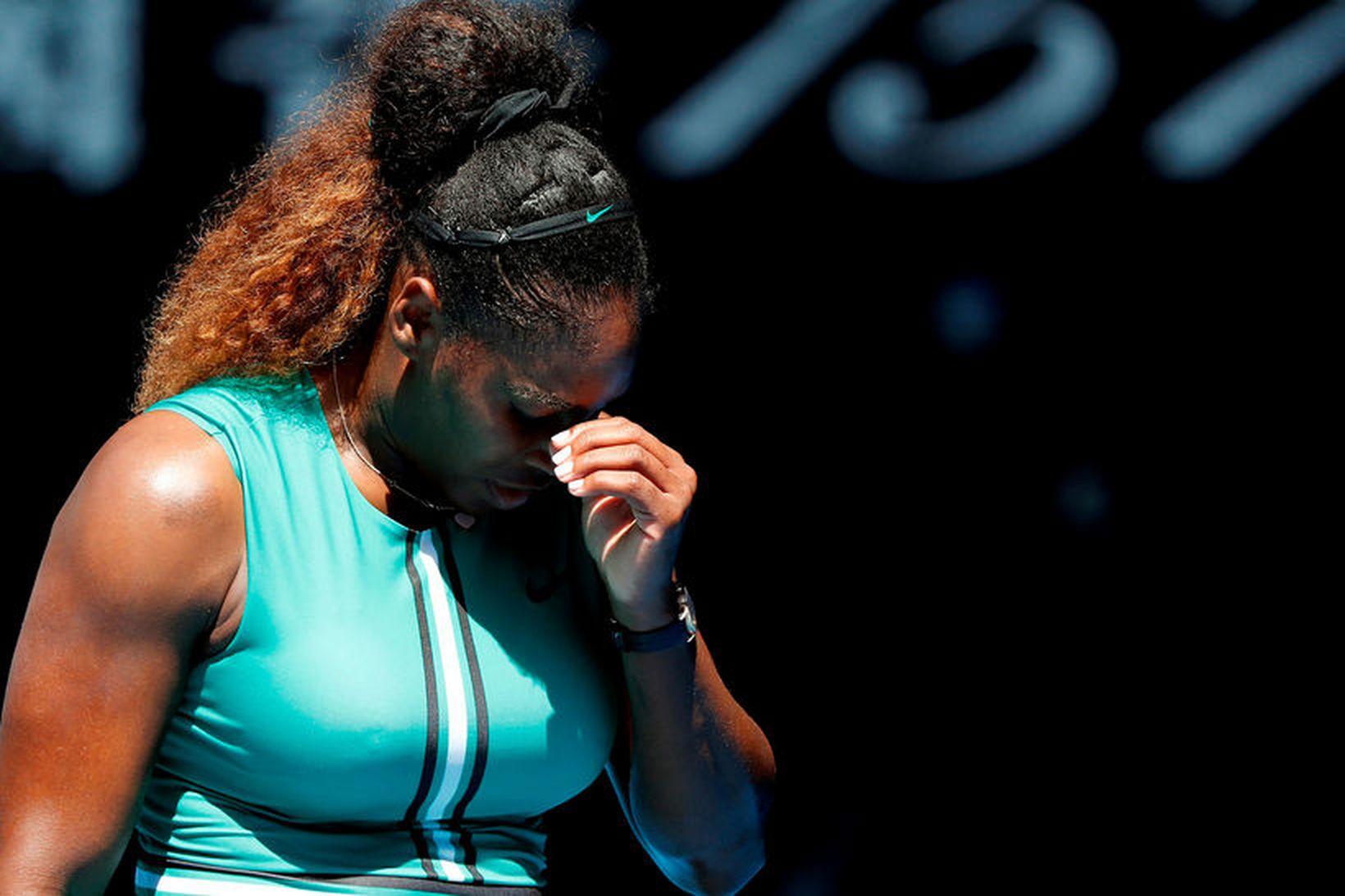 Serena Williams er úr leik.