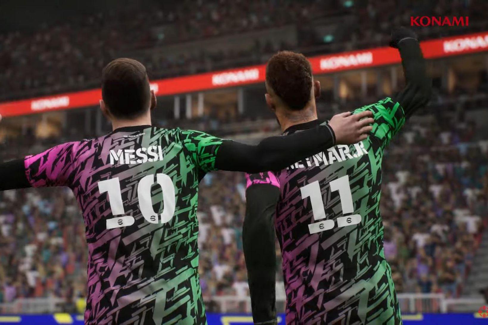 Messi og Neymar Jr. í leiknum eFootball.