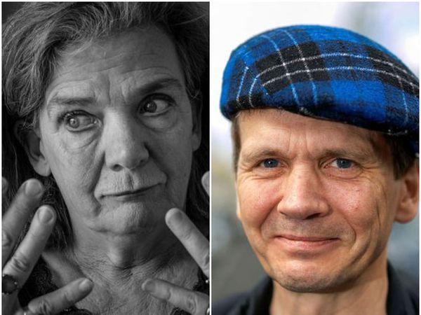 Elísabet Kristín Jökulsdóttir and Hrafn Jökulsson.