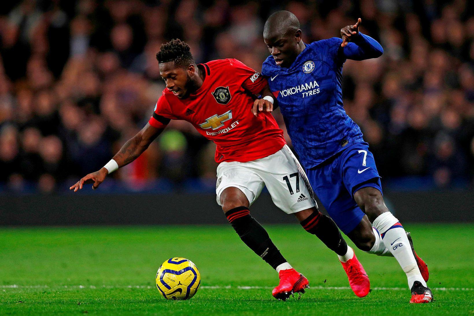 N'Golo Kante í leik Chelsea og Manchester United.
